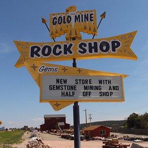 Old Sign ,New Rock Shop