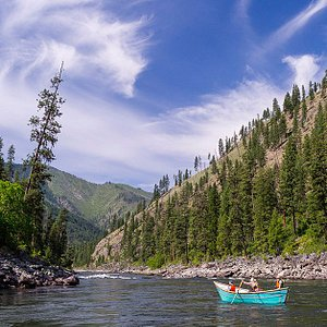 Dory on the Main Salmon River