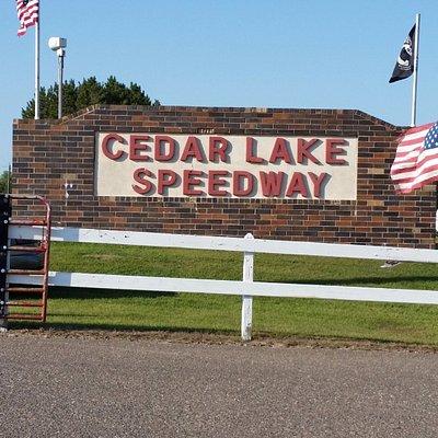 Entrance to Cedar Lake Speedway