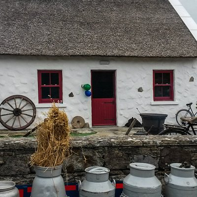 Kilmovee' s Thatch Cottage on a mellow September day.