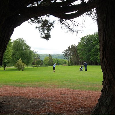 Approaching the first hole.