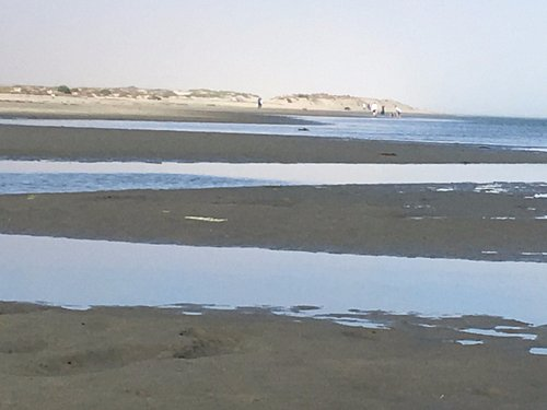 This is the view from Hospitality Point a distant view I walk to on the beach and you see the be