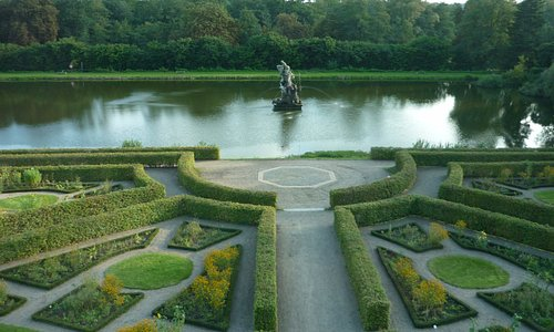 Вид на парк замка
