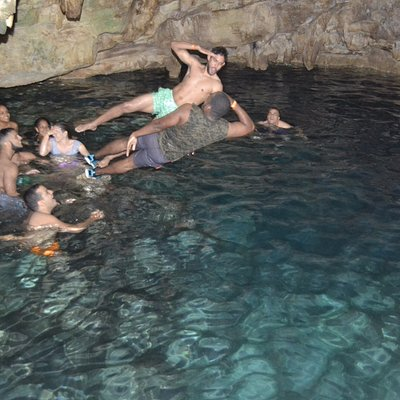 cave with clear water in punta cana
