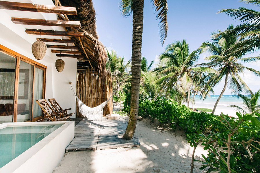 View of the beach - Picture of Cabanas Copal, Tulum