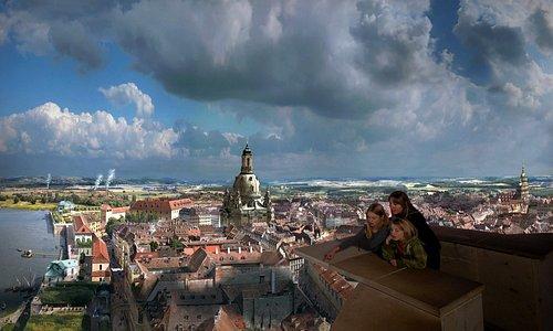 360°-Panorama DRESDEN IM BAROCK von Yadegar Asisi im Panometer Dresden