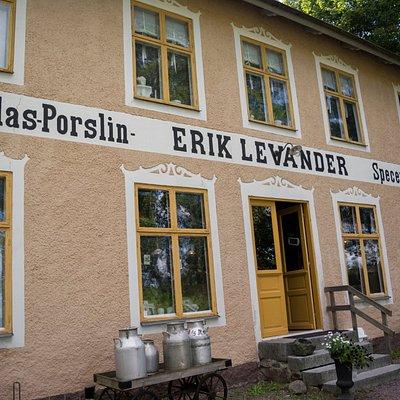 Levanders lanthandelsmuseum, framsidan.