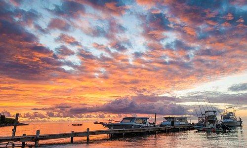 Nevis sunset at Oualie Beach