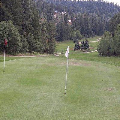 Two holes per green = 18 holes.