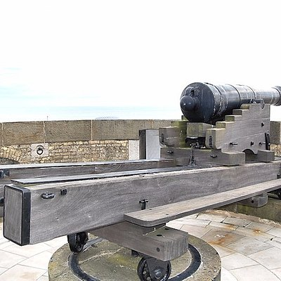 24 Pounder Cannon on the roof