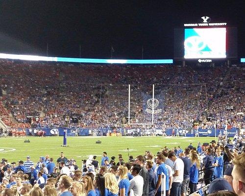 2017 BYU vs Utah end zone screen