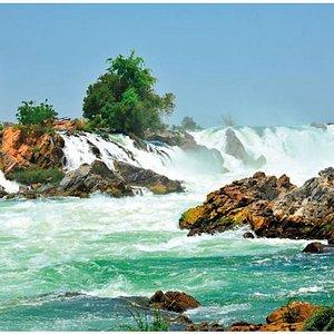 Khone Phapheng Waterfalls - 4000 islands - southern Laos - View of the waterfalls