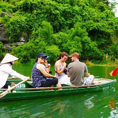 Boating in Trang an Grotto