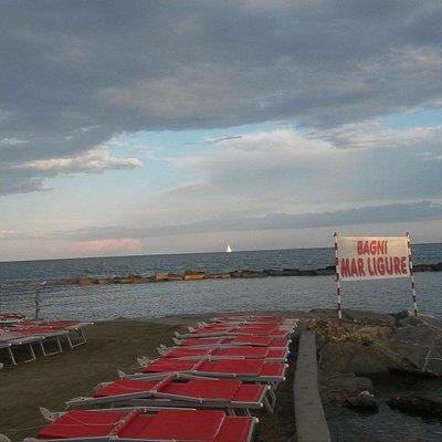 Vista della spiaggia , lezione teorico e pratica GRATUITA di biologia marina e snorkeling, sangr