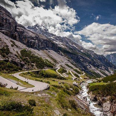 """Stelvio Pass, """"Great Alps"""" Tour."""