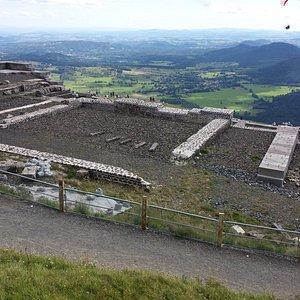 Ruines du Temple en pleine restauration