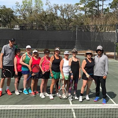 Yearly clinic at the great Sea Pines Racquet Club with Job and Michael