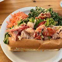 Look at all that lobster in the lobster roll - yum!
