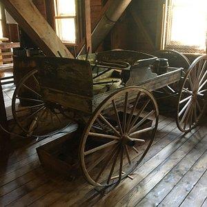 Cute little wagon upstairs