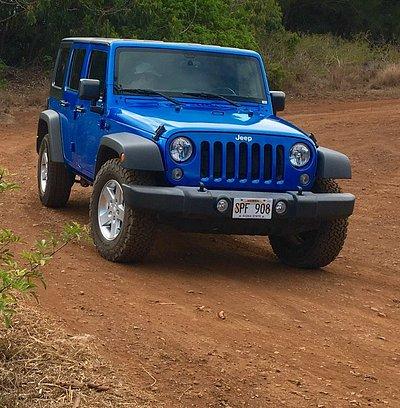 Blue 4 door