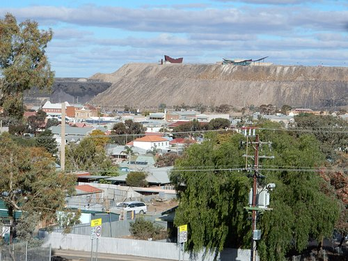 View of Miners memorial from the lookout