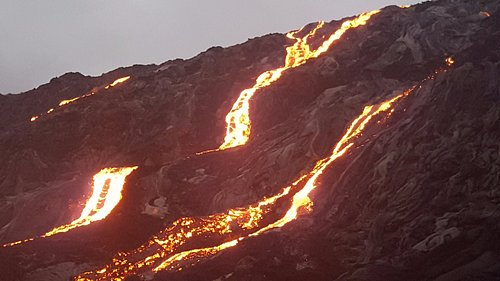 September 10 2017. Found this lava flow on the Pali in Kalapana. Time to schedule a lava hike?
