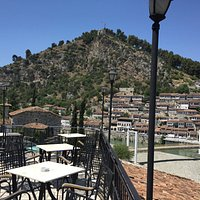 View from the top level, Castle and Berat in background