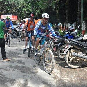 Riding Nagarkot to Bhaktapur