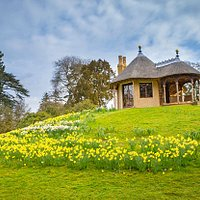 The Swiss Cottage here in the Swiss Garden, different seasons bring different views