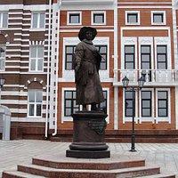 Памятник Рембрандту - художнику эпохи Возрождения, которое было задумано в Йошкар-Оле