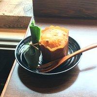 笹巻きあんぷと豆腐ケーキ