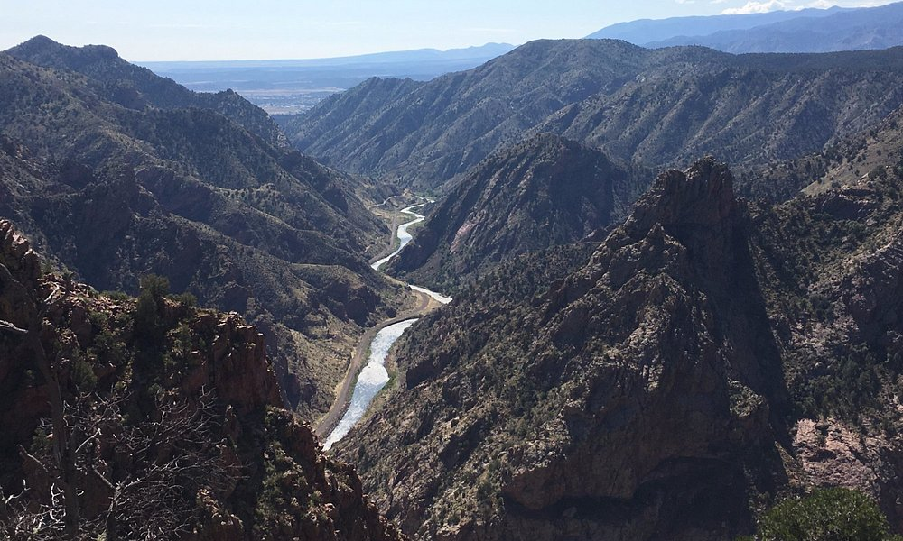 The view while on the Canyon Rim Trail!