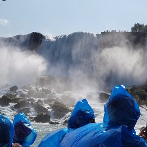 Getting wet on Maid of the Mist!