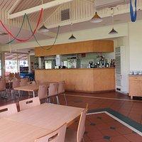 The bar and coffee/tea facilities