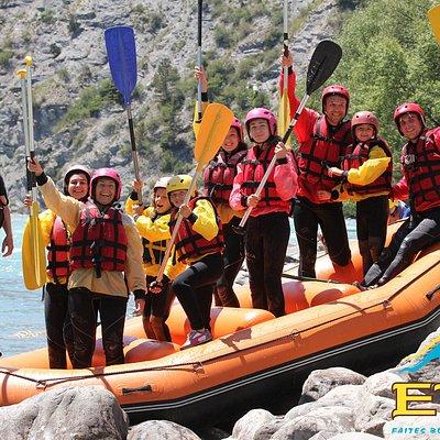 Rafting chez EVP