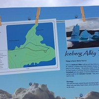 A cute photo of the Iceberg Alley Trail telling visitors about the place