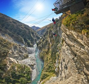 Shotover Canyon Swing & Canyon Fox, Queenstown, New Zealand