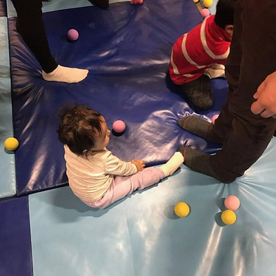 Ball pit area - great area for smaller kids!