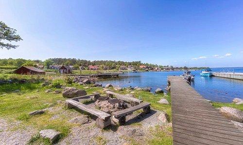 Vackra ön Tärnö i Karlshamns skärgård.