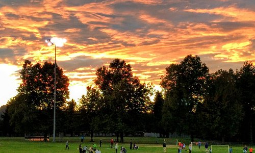 Brannan play field, well lit for after school and evening practices.