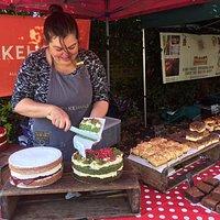 spinach pomegranate cake mmm...
