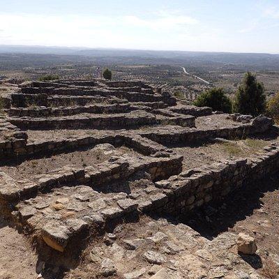 Poblado ibérico de S.Antonio, estructura de calles y casas.