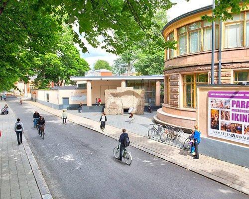 Aboa Vetus & Ars Nova -museo sijaitsee Turun keskustassa Aurajoen rannalla. Kuva: Jari Nieminen.