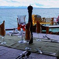 Mesas en el Restaurant Villa Lagarto