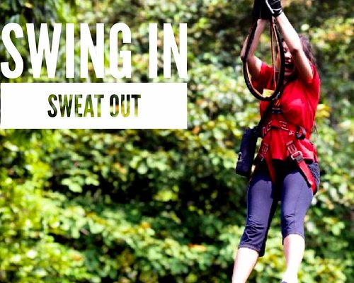 Swing in for the fun forest adventure that will make you sweat your fear out!