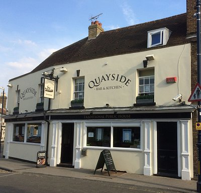 Quayside pub, Whitstable. New look 2017.