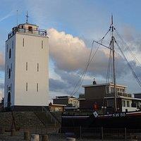 -17de eeuwse Vuurbaak Katwijk aan Zee;een oude vuurtoren-