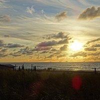 Zonsondergang-Strand van Katwijk aan Zee-