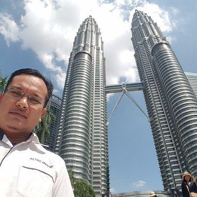 me with petronas tower