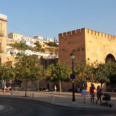 Vista de la Puerta y la plaza donde se encuentra